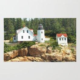 Bass Lighthouse Photography Art Rug