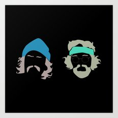 cheech and chong Art Print
