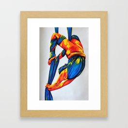 Bright bendy wendy Framed Art Print