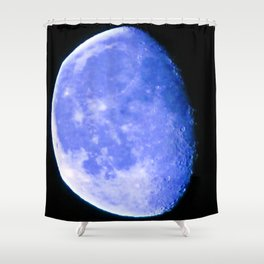 Icy Blue Moon Shower Curtain