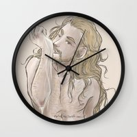 fili Wall Clocks featuring Milky Fili by ScottyTheCat