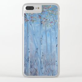 Trees Tall and Lovely Clear iPhone Case