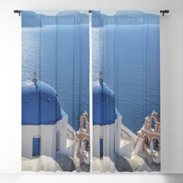 Santorini island in Greece Blackout Curtain