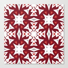 Snowflakes on Red Canvas Print