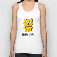 jake Tank Tops featuring Hello Jake by Faniseto
