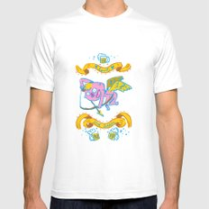 a drink my love ? White MEDIUM Mens Fitted Tee
