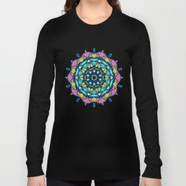 element colors ornamental mandala Long Sleeve T-shirt