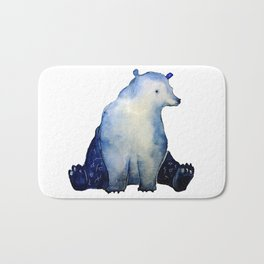 blue bear Bath Mat