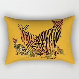 Fingerprint Cat Family Rectangular Pillow