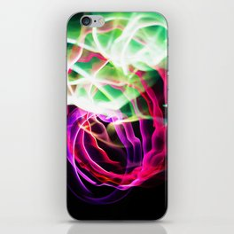 Glowing Neon Lights (Color) iPhone Skin