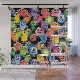 cute monsters Wall Mural