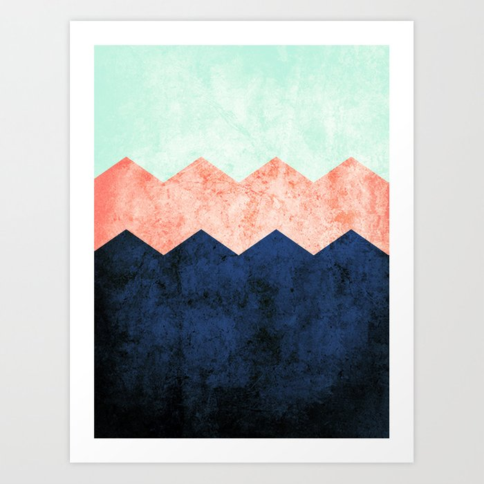 triple chevron (2) Art Print