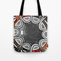 chuck Tote Bags featuring Chuck Yeah!  by MistyAnn @ What the F-stop Prints