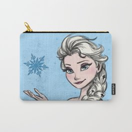 Elsa the snow queen from frozen in color. Carry-All Pouch