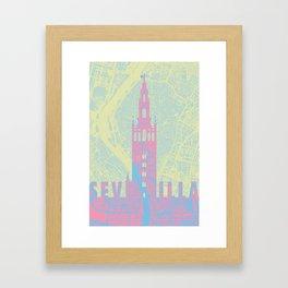 Giralda Sevilla cityscape Framed Art Print
