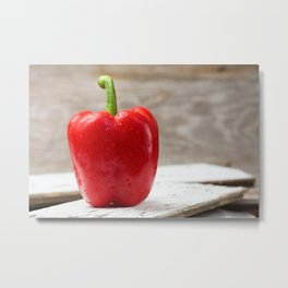 Red Bell Pepper Metal Print