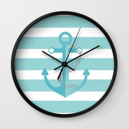 AFE Nautical Agua Ship Anchor Wall Clock