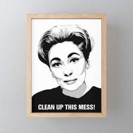 Mommie Dearest - Clean up this Mess! - Pop Art Framed Mini Art Print