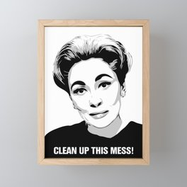 Mommie Dearest - Clean up this Mess! - Pop Art Framed Mini Art Print
