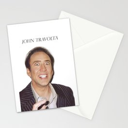 John Travolta // Nicolas Cage Stationery Cards