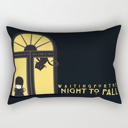 Waiting for the night to fall Rectangular Pillow