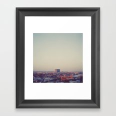 Morning Over Detroit Framed Art Print