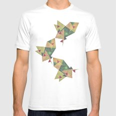 Earth Geometry MEDIUM Mens Fitted Tee White