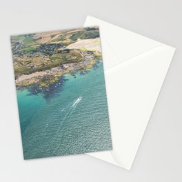 Aerial Views of the mouth of the River Camel, Padstow, Cornwall Stationery Cards