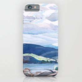 Franklin Carmichael - Lake and Hills - Canada, Canadian Watercolor Painting - Group of Seven iPhone Case