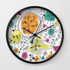 Spring doodles Wall Clock
