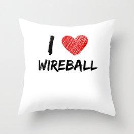 I Love Wireball Throw Pillow