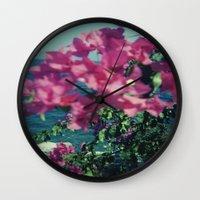 greece Wall Clocks featuring Greece by Kristoffer Gold