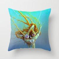 medusa Throw Pillows featuring Medusa by aeolia