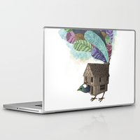 house stark Laptop & iPad Skins featuring birdhouse revisited by Laura Graves