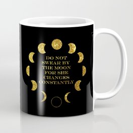 Moon Phases Gold Coffee Mug