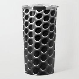 Stainless Steel Circles with Black Travel Mug