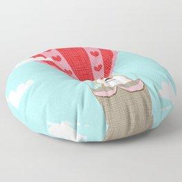 Corgi hot air balloon funny dog art cute puppy nursery Floor Pillow