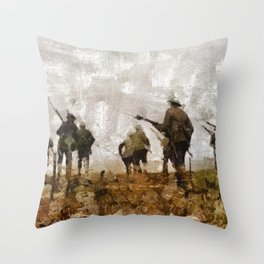 Over The Top, WWI Throw Pillow
