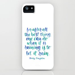 Let It Rain iPhone Case