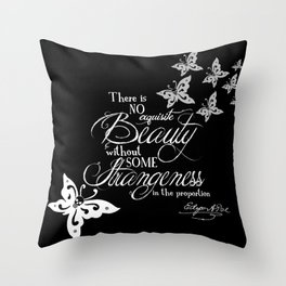 Strange Skullerflies - EA Poe Quote Throw Pillow
