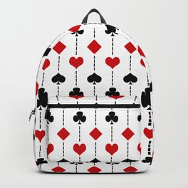 Playing card pattern Backpack