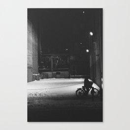Bicycle at Night Canvas Print