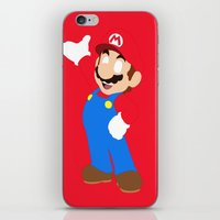 super mario iPhone & iPod Skins featuring Super Mario by Valiant