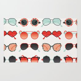 Sunglasses Collection – Red & Mint Palette Rug