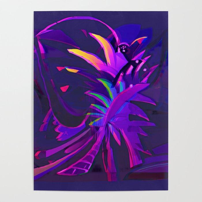 Tropical Sounds under Moon Light Poster