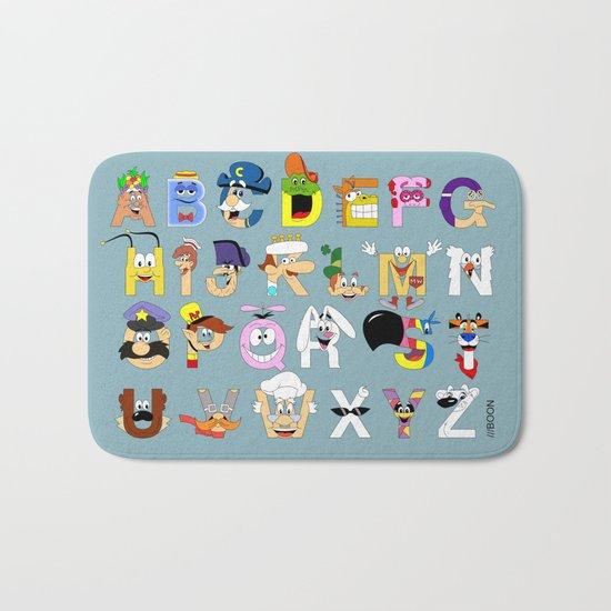 Breakfast Mascot Alphabet Bath Mat
