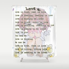 The Little Angel - Love Message Shower Curtain