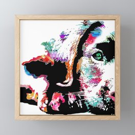riley the lab pup Framed Mini Art Print