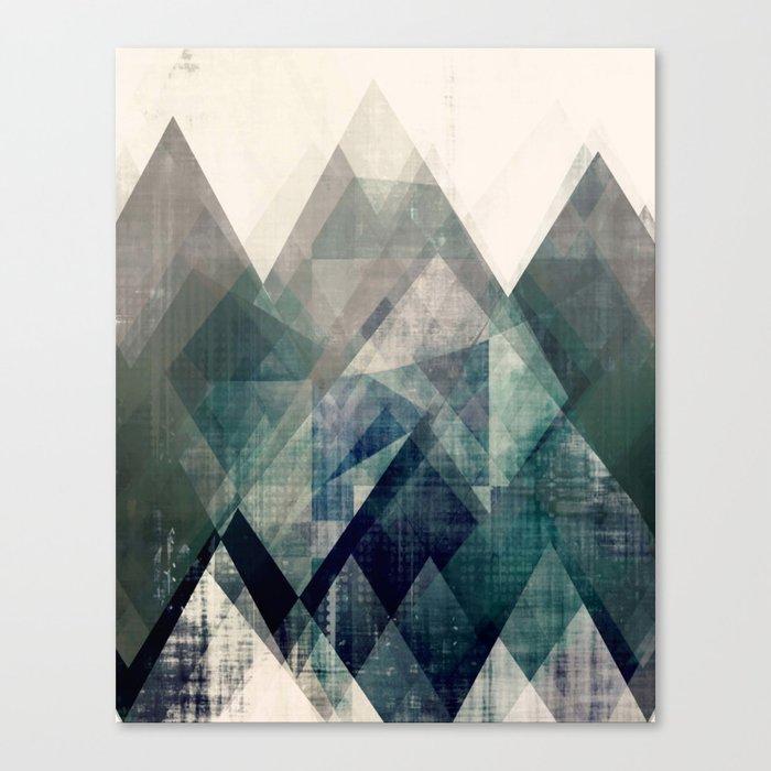 Mountains print, Abstract print, geometric wall art, abstract ...