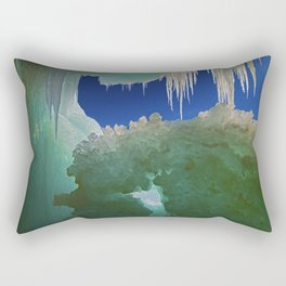 Ice Cave on Lake Superior Rectangular Pillow